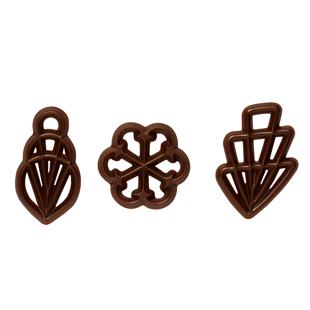 Decoraciones abiertas - Sugar free Chocolate Flilgrans