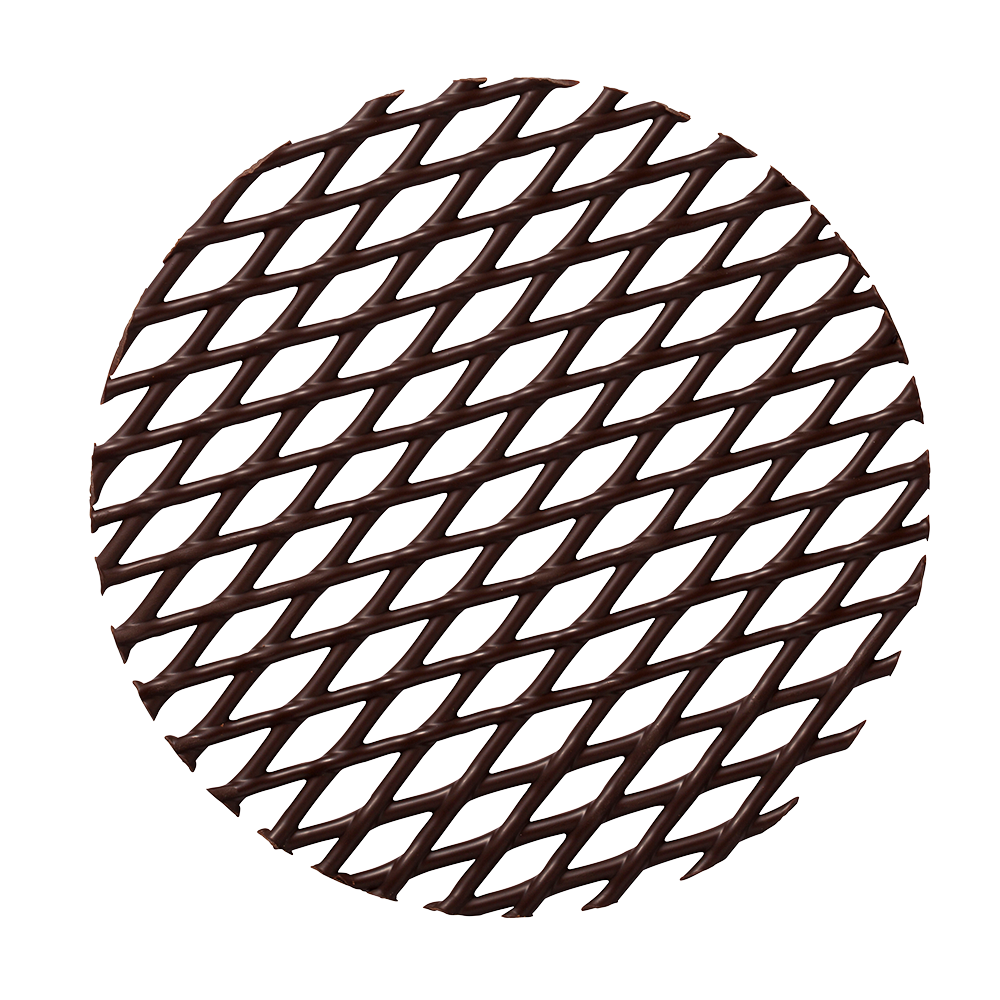 Grids - Dark Chocolate Cake Tops
