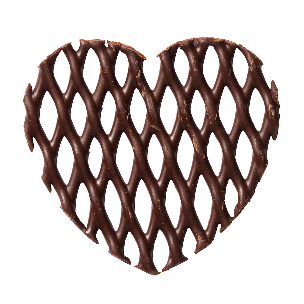 Grids - Dark Chocolate Heart Grids