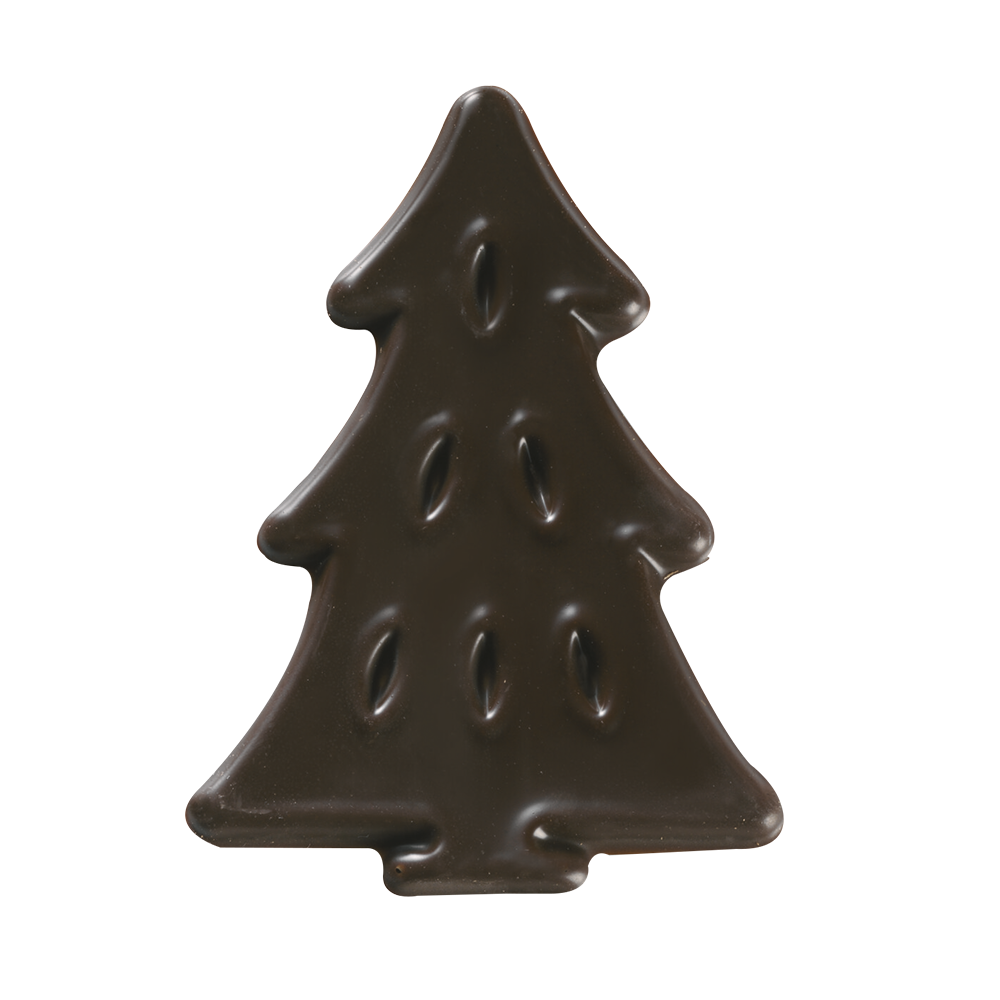 Christmas / Winter - Dark Chocolate Pine Figurettes
