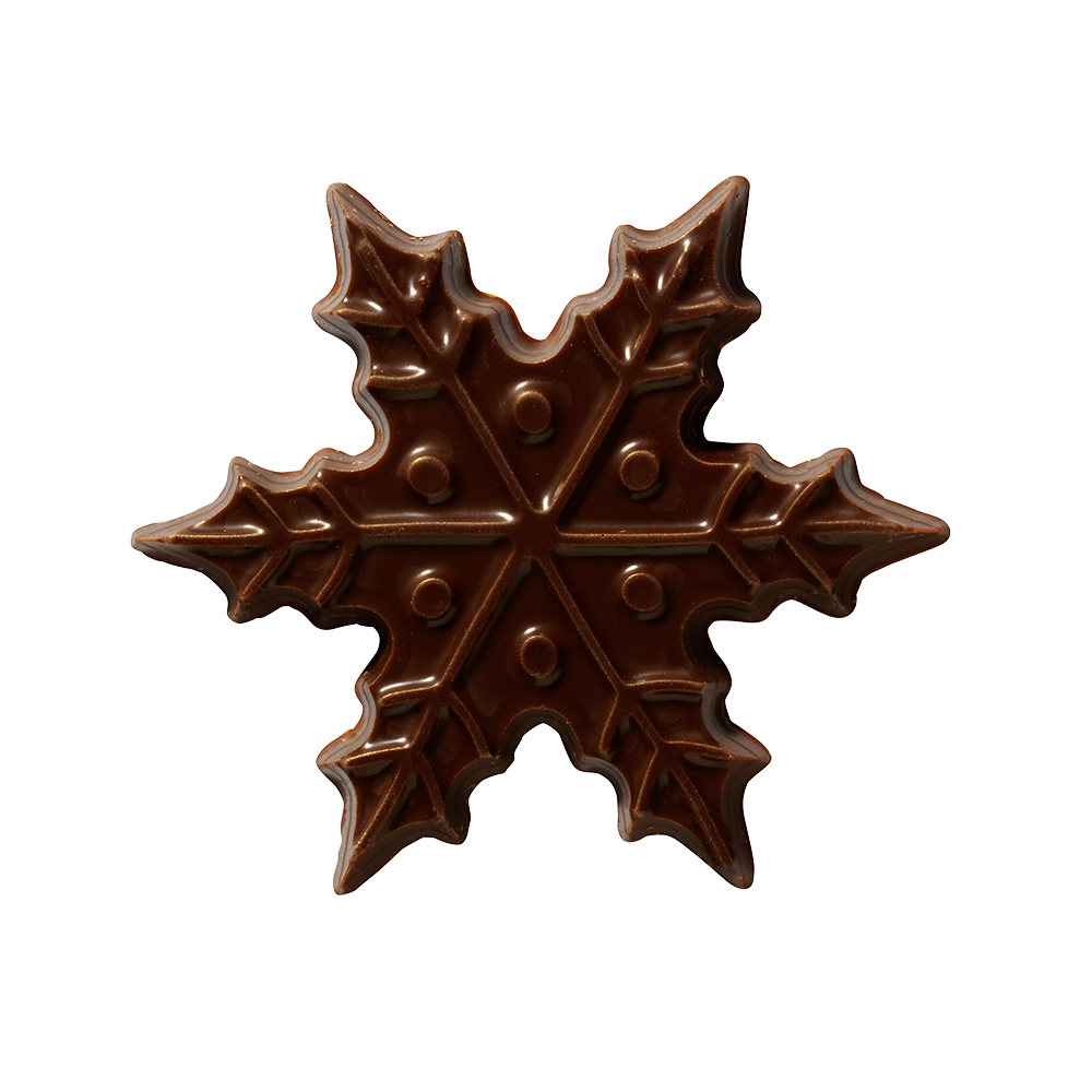 Christmas / Winter - Dark Chocolate Snowflake 6cm