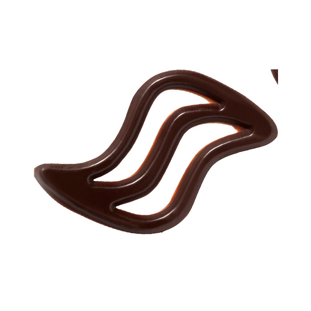 Open decoraties - Dark Chocolate Waves