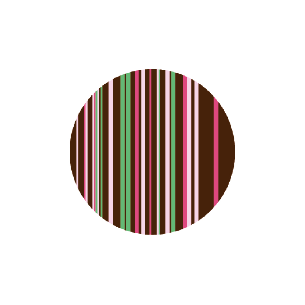 Circled Strips - Chocolate Decorations - Round Plaques - 280 pcs