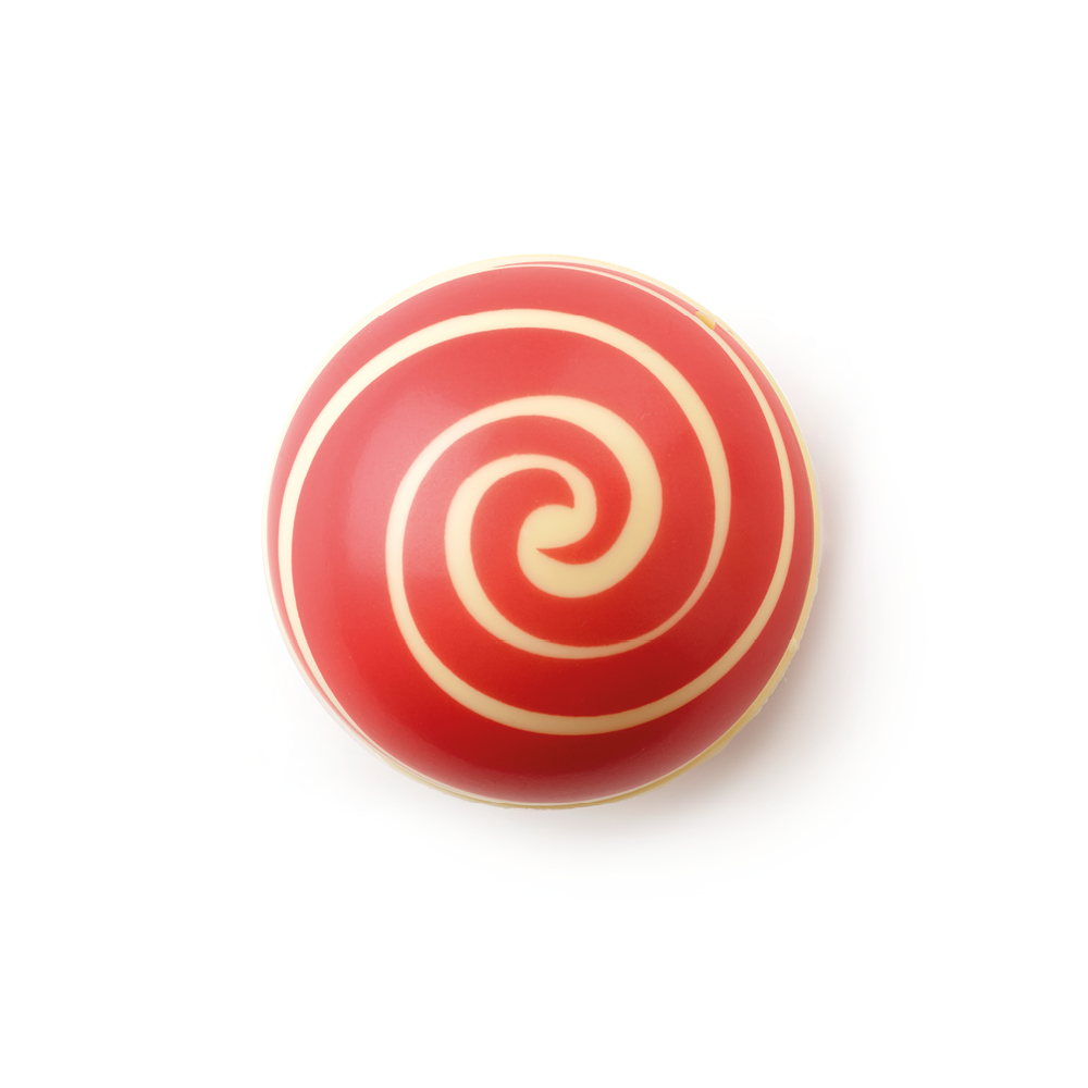 Swirl Shell Red White Chocolate - Chocolate Decorations - Dessert Shell - 20 pcs