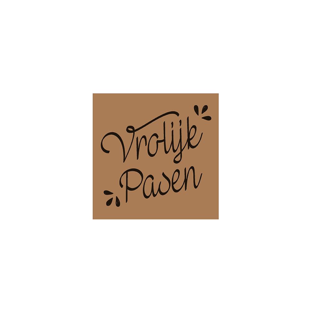 Vrolijk Pasen - Chocolate Decorations - Square Plaque - 252 pcs