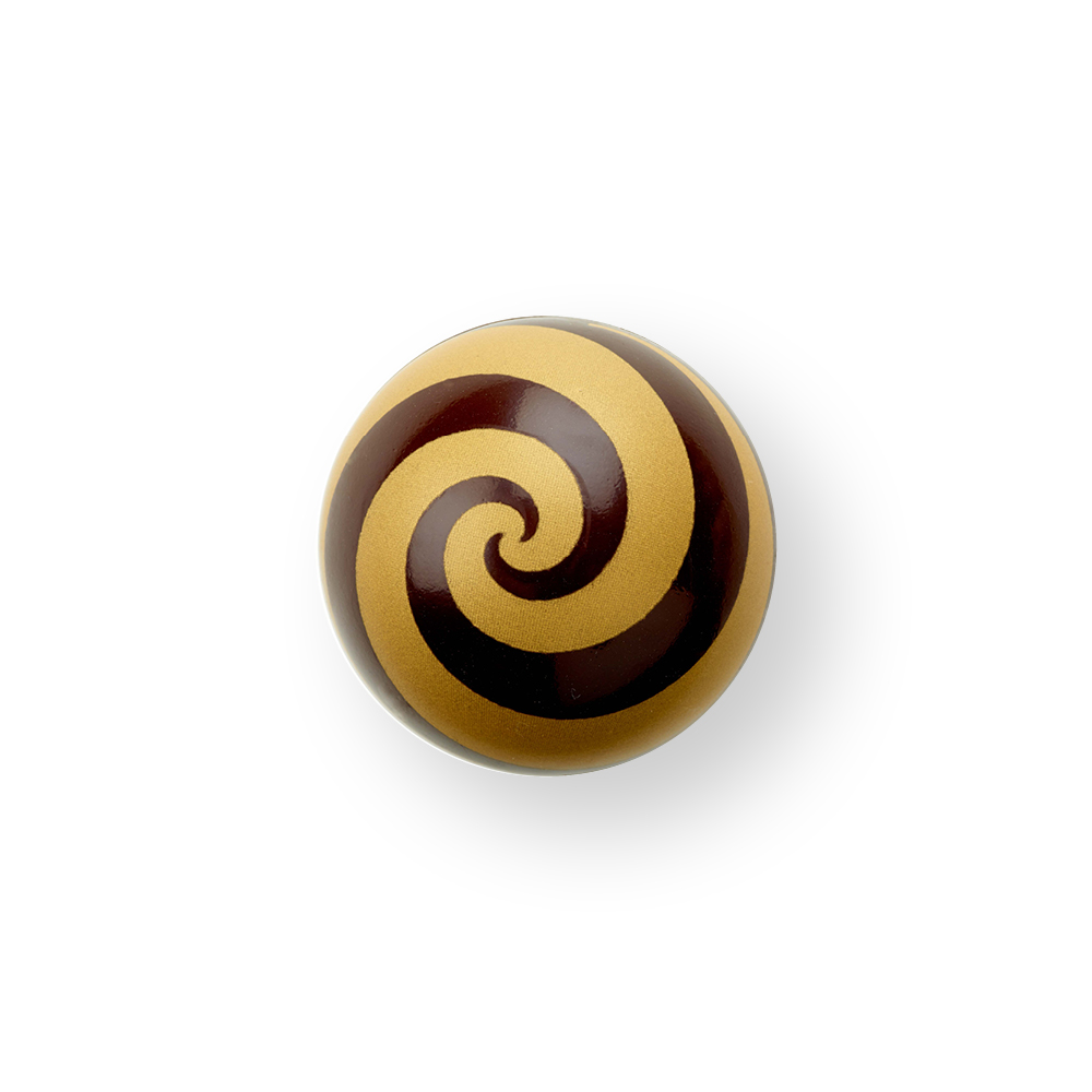 "Swirl Shell ""Gold"" Dark Chocolate - Chocolate Decorations - Dessert Shell - 63 pcs"