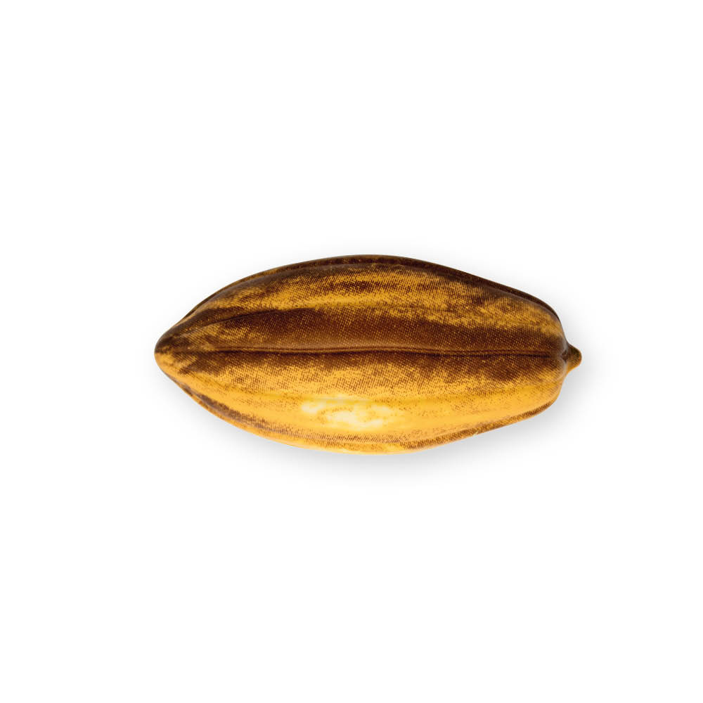 Natural Cocoa Pod Yellow - Chocolate Decorations - Cocoa Pod Shape - Cup - 24 pcs