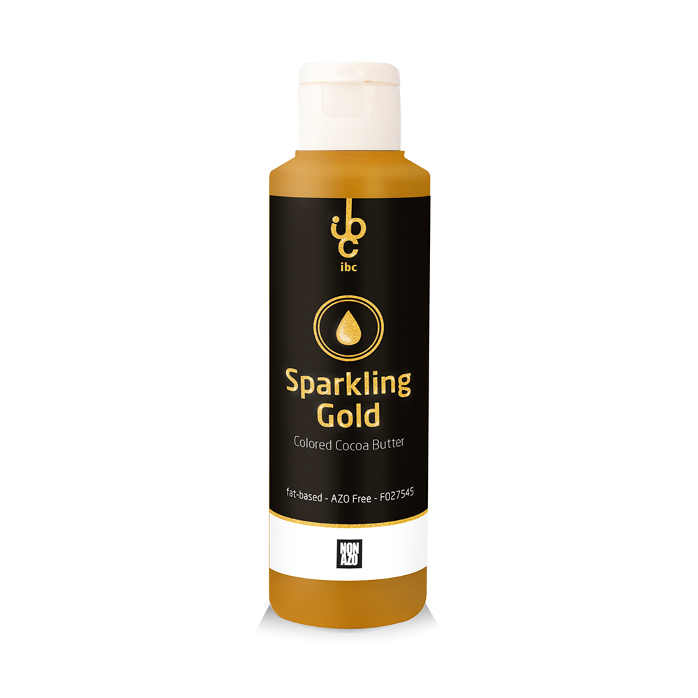 Colored Cocoa Butter Sparkling Gold - Food Colorant - 245gr