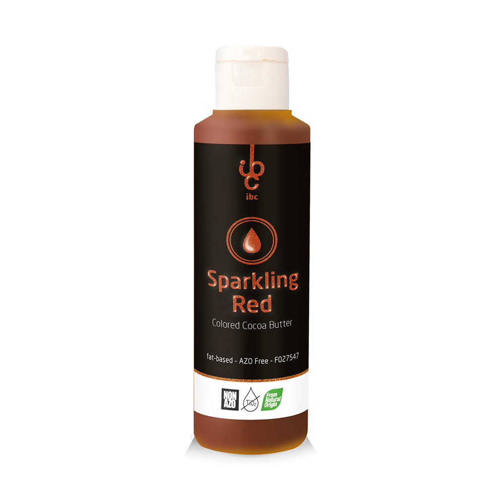 Colored Cocoa Butter Sparkling Red - Food Colorant - From Natural Origin - 245gr