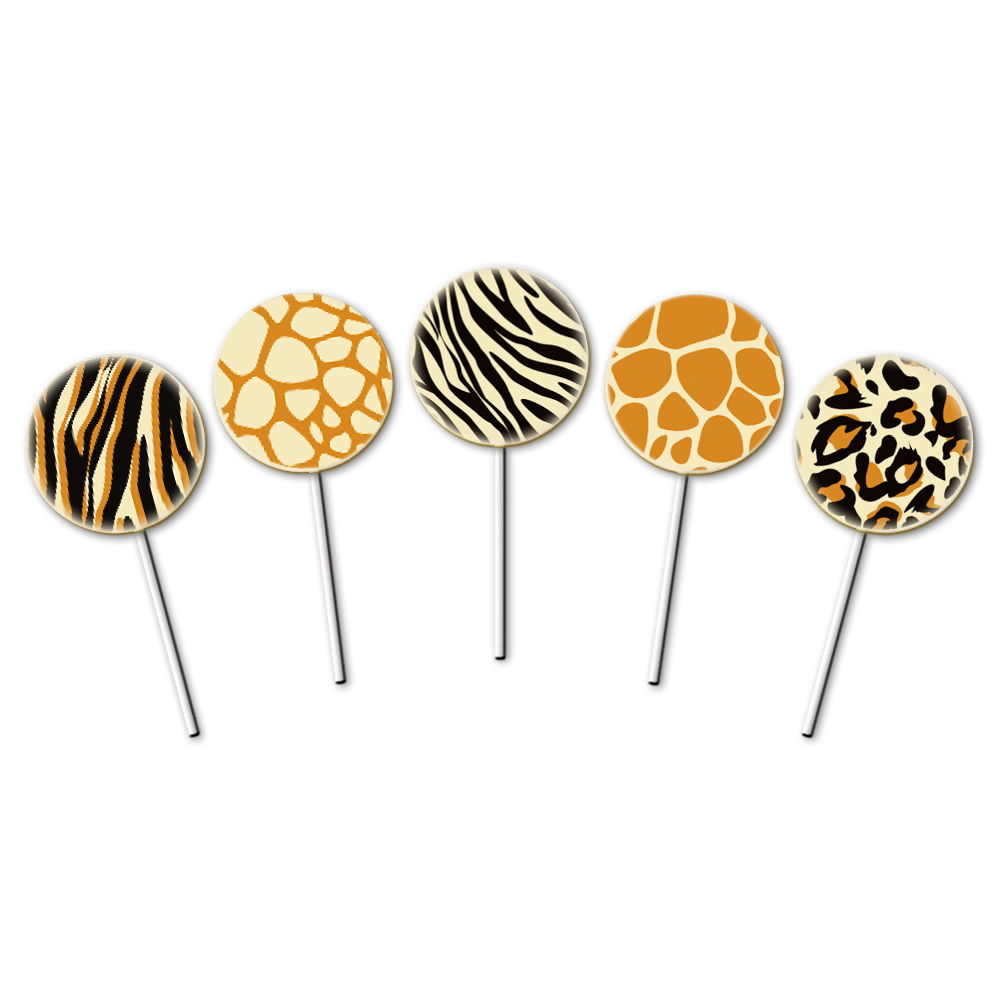 Safari Lollies - Transfer Sheets - 30 pcs