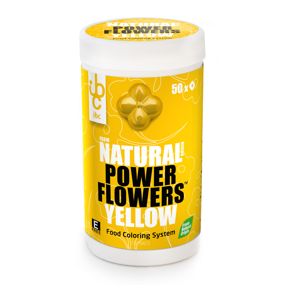 Power Flowers Yellow - Food Colorants - 50 pcs - From Natural Origin