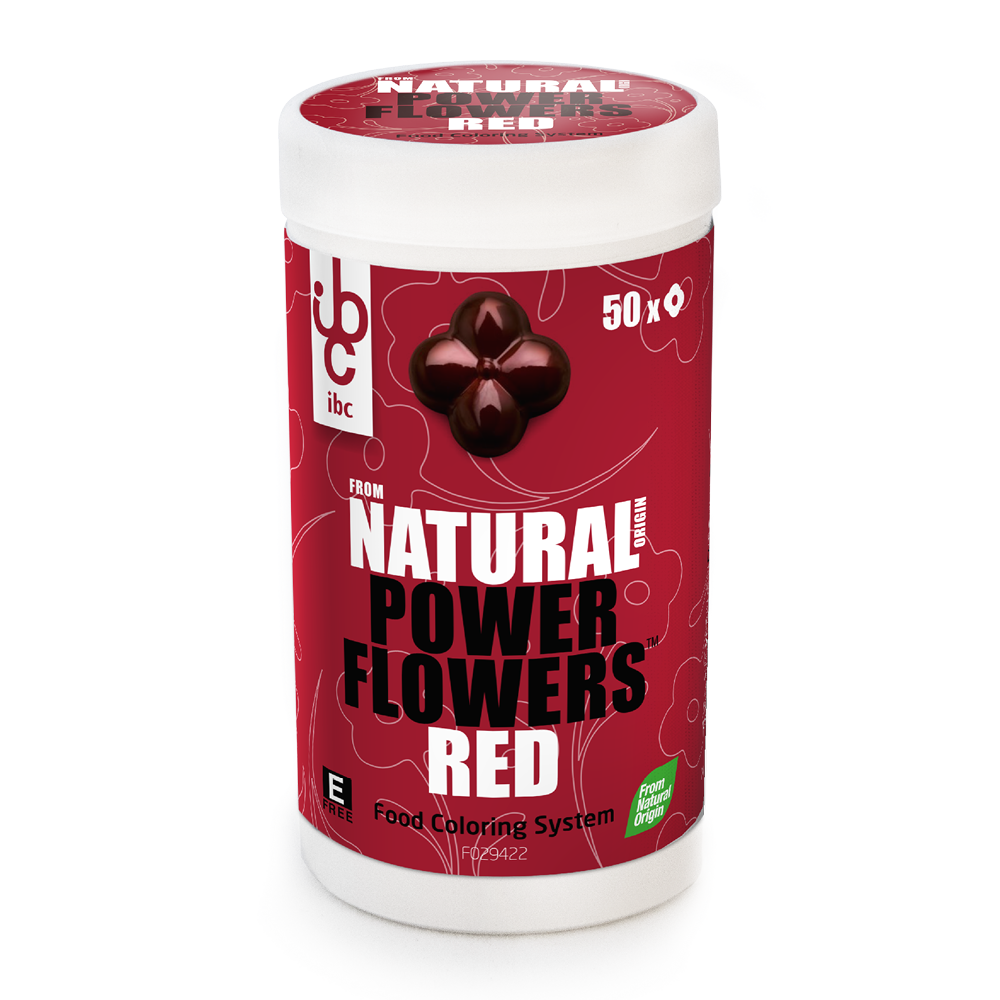 Power Flowers Red - Food Colorants - 50 pcs - From Natural Origin
