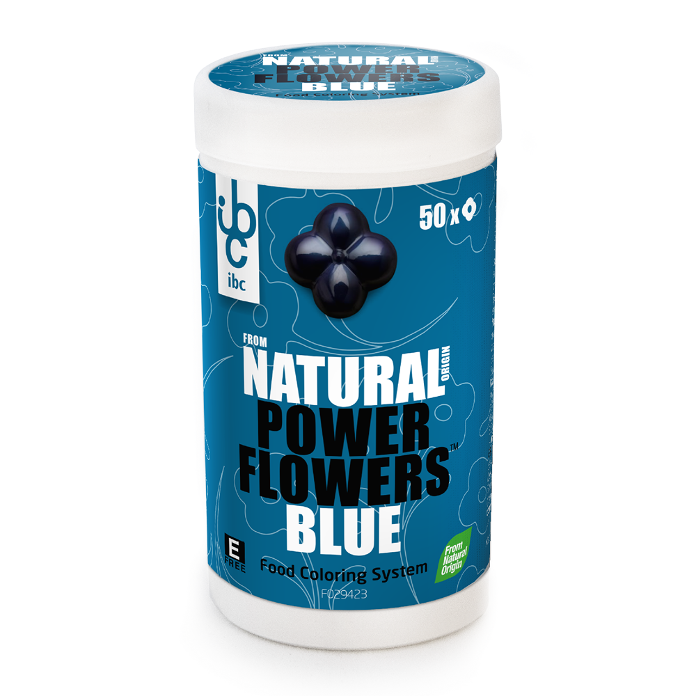 Power Flowers Blue - Food Colorants - 50 pcs - From Natural Origin