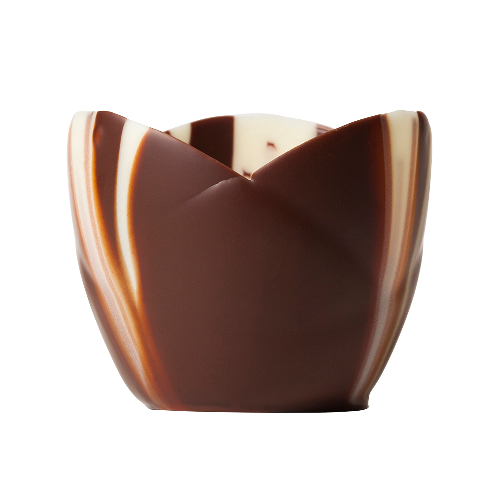 Coupes marbrées - Marbled Chocolate Crocus Cups