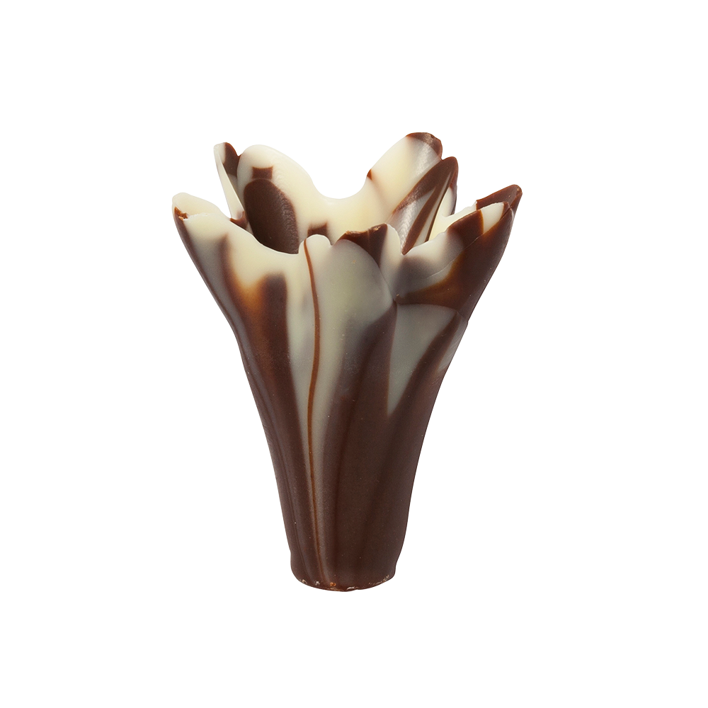2,5D / 3D decorations - Marbled Chocolate Small Lilies