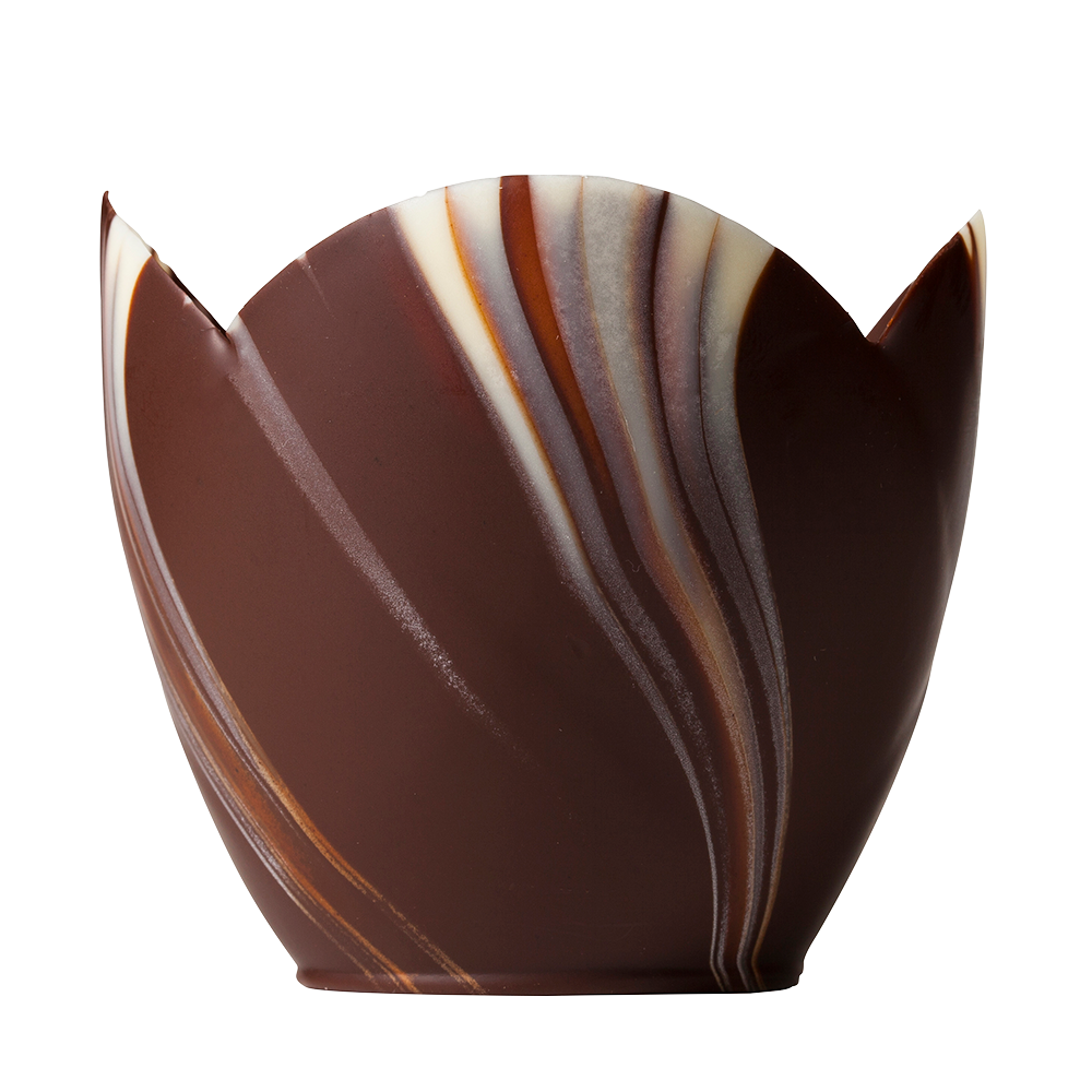 Vasos Marmoleados - Marbled Chocolate Tulip Cups