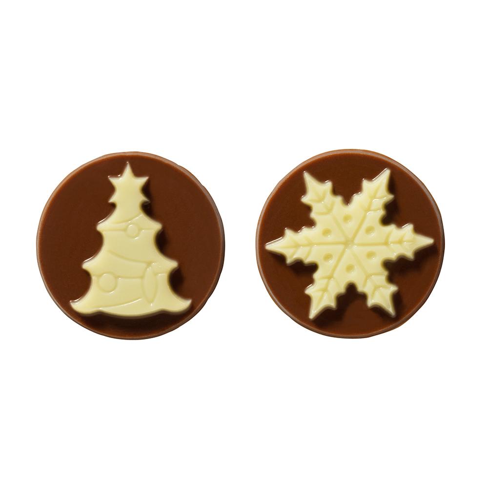 Navidad - Milk and White Chocolate Tree & Snowflake Assortment