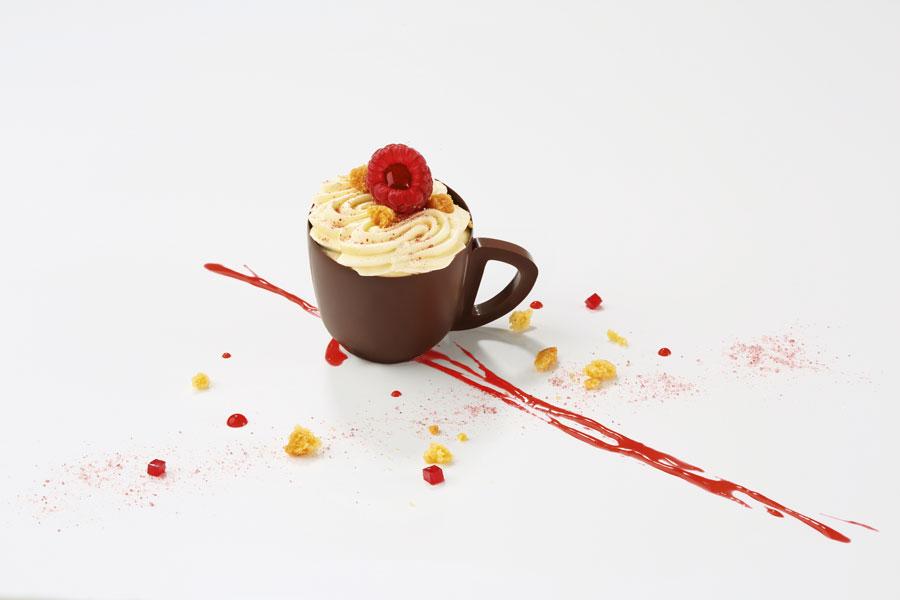 Mini coupes coffee en chocoat noir - Framboise