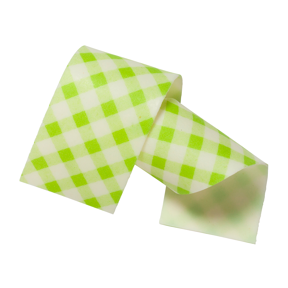 Cake collars - Almond and sugar collars vichy green 40mm