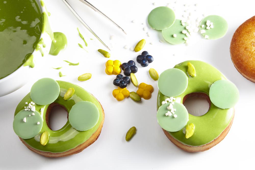 Grüne Donuts