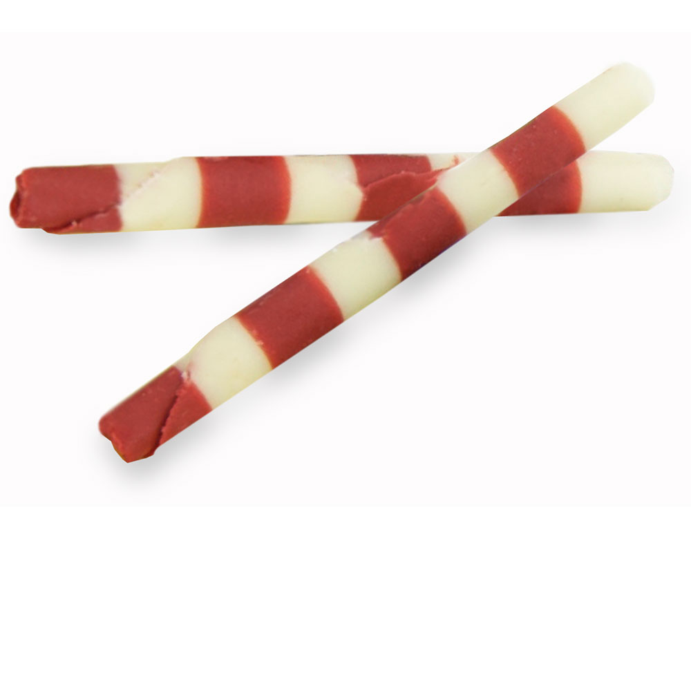 Chocolattos / rolls - Small Red and Ivory Duo Chocolattos