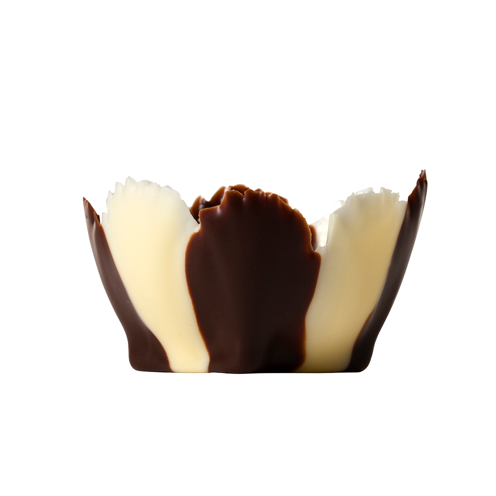 Vasos  exclusivas - Dark & White Chocolate Iris Cups