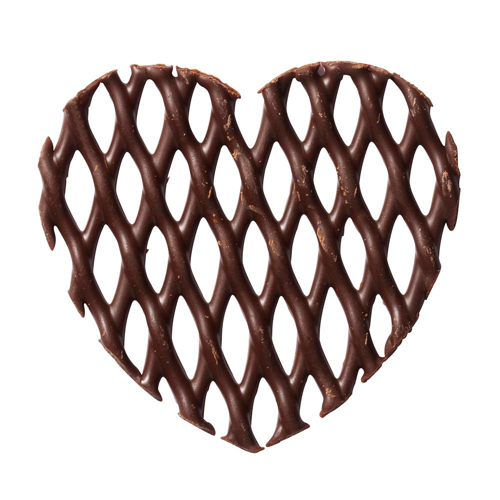 Grids - Dark Chocolate Heart Grids