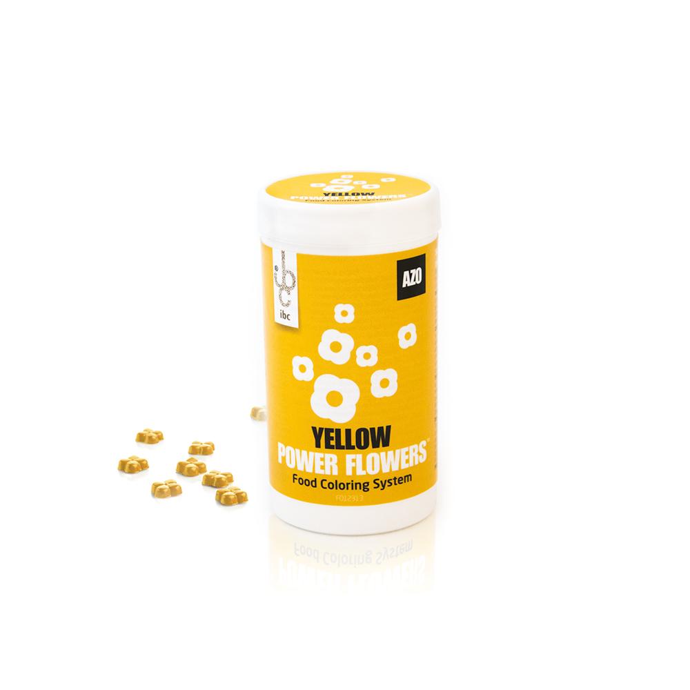 Power Flowers Classic Yellow Intense - Food Colorants - 50pcs