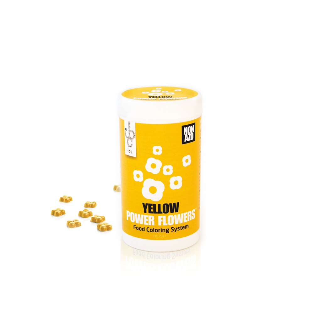 Power Flowers Classic Yellow - Food Colorants - From Natural Origin - 50pcs
