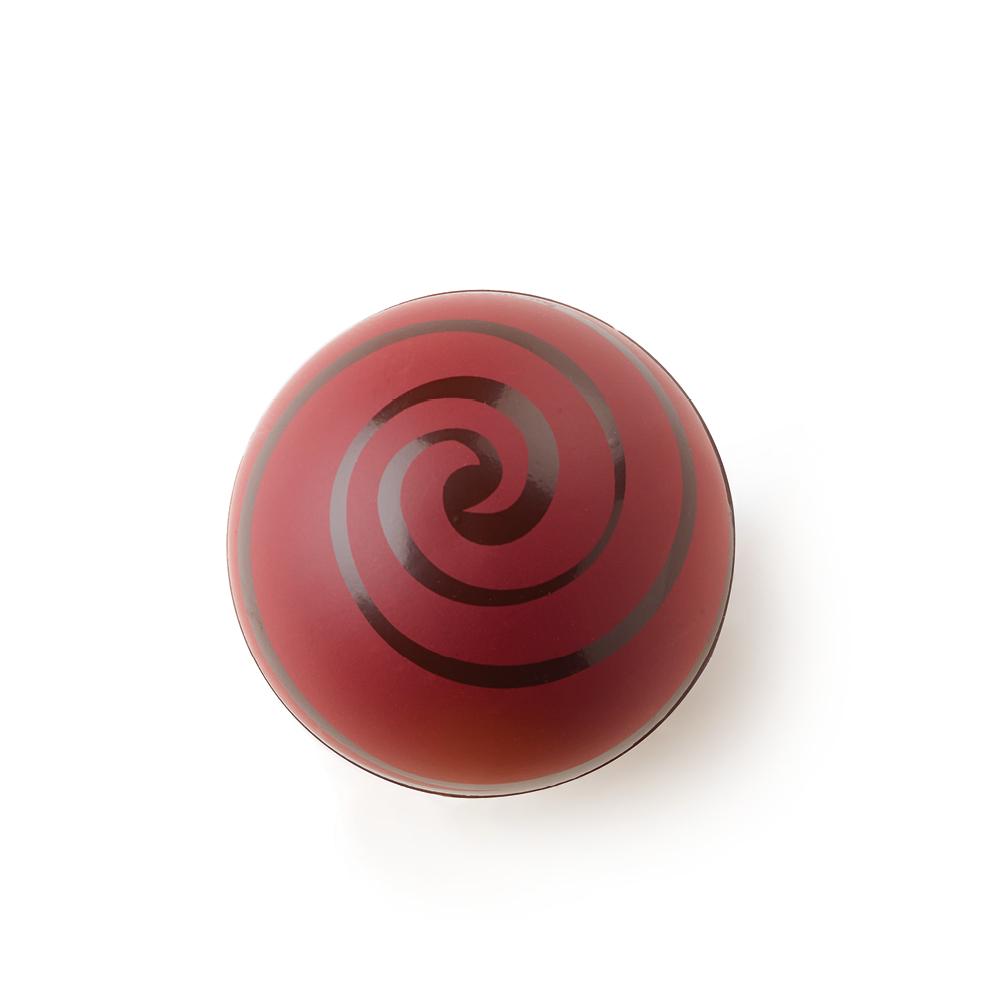 "Swirl Shell ""Red"" Dark Chocolate - Chocolate Decorations - Dessert Shell - 20 pcs"