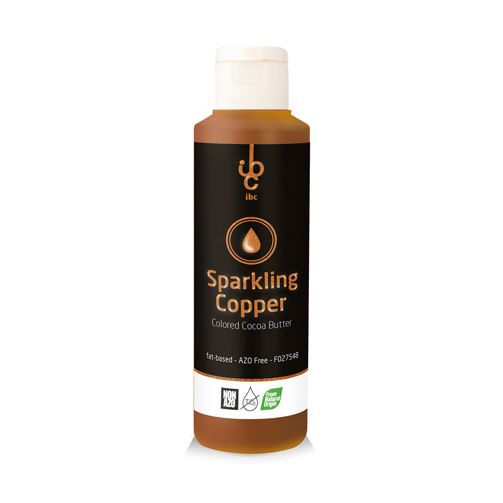 Colored Cocoa Butter Sparkling Copper - Food Colorant - 245gr - From Natural Origin