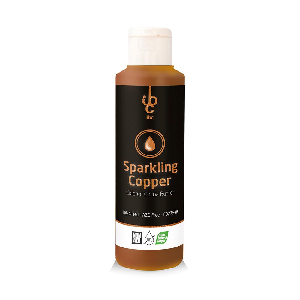 Colored Cocoa Butter Sparkling Copper - Food Colorant - 245gr - From Natural Origin
