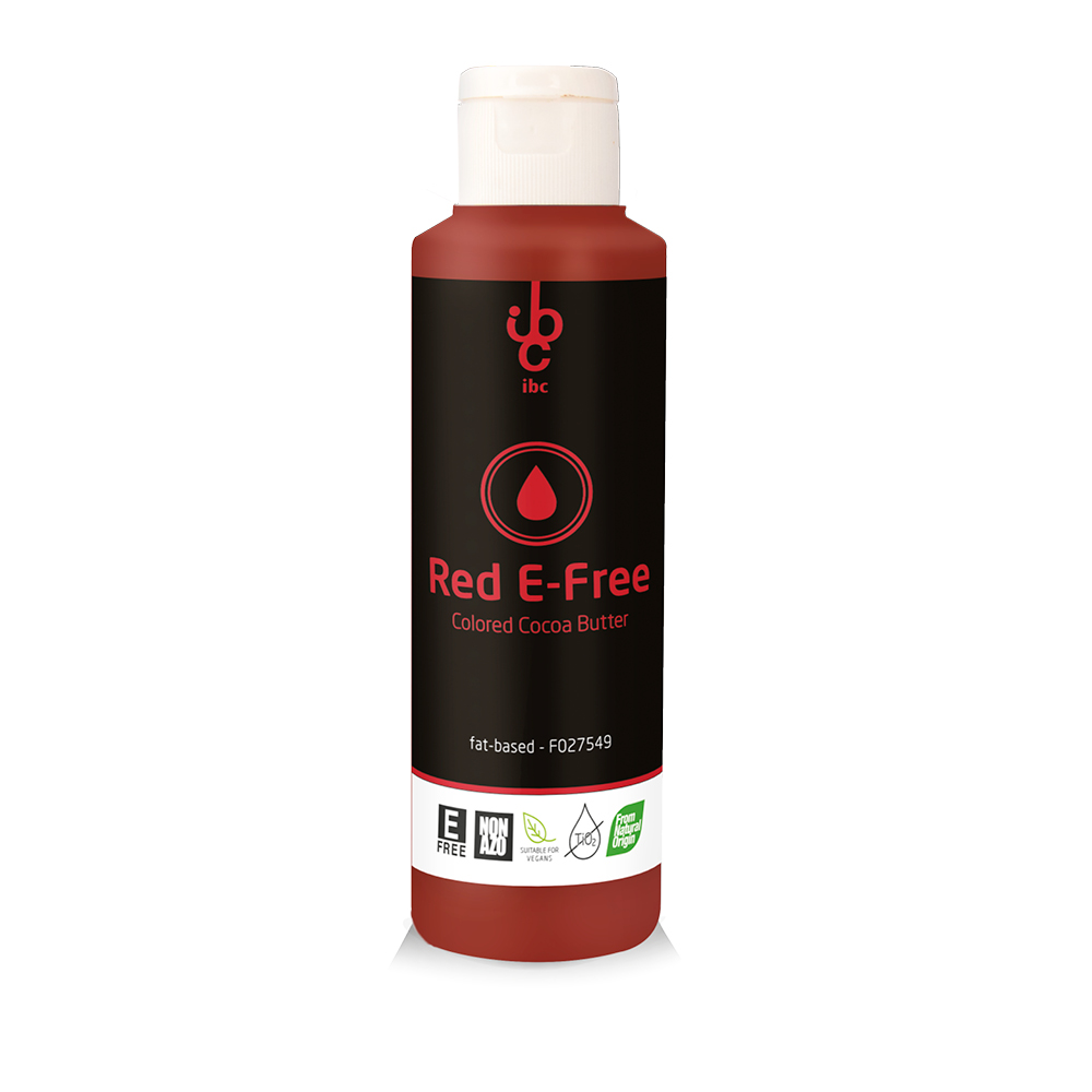 Colored Cocoa Butter Red E-Free - Food Colorant - From Natural Origin - 245gr