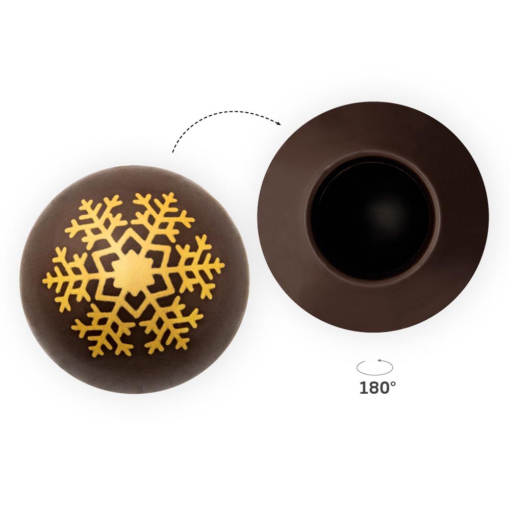 Snowflake Gold Shell 2 - Chocolate Decorations - Dessert Shell - 20  pcs