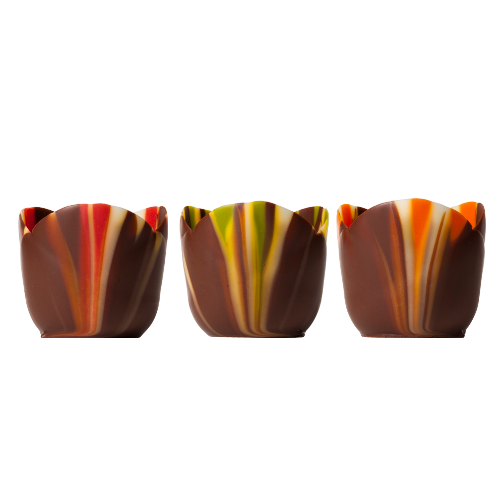 Gemarmerde cups - Pastel Marbled Petits Fours Assortment