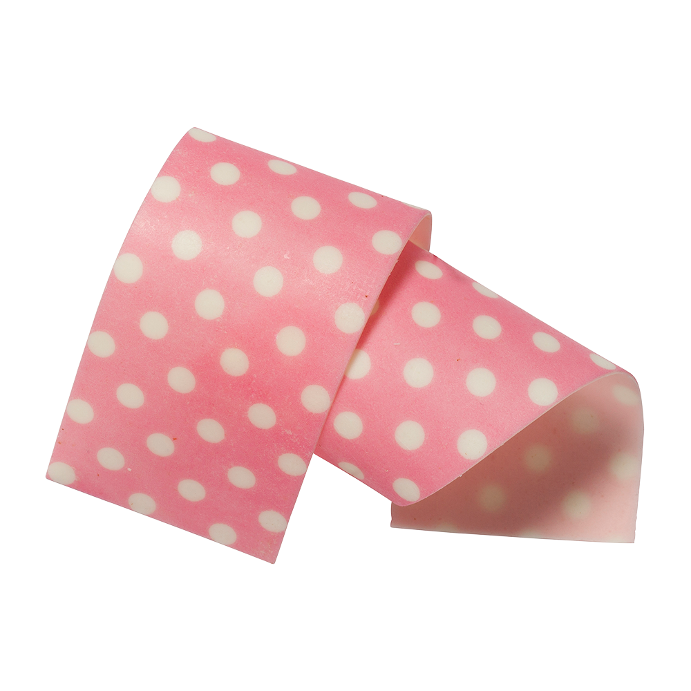 Cake Collars - Almond and sugar collars pink 50mm