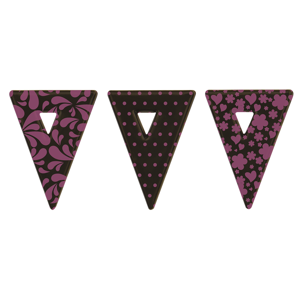 Lente - Triangle Pink Raspberry Plaques