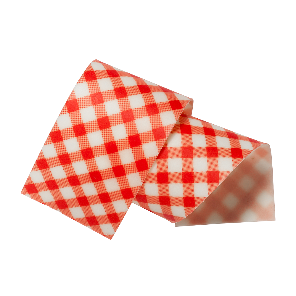 Cake Collars - almond and sugar Vichy Red Collars 50 mm