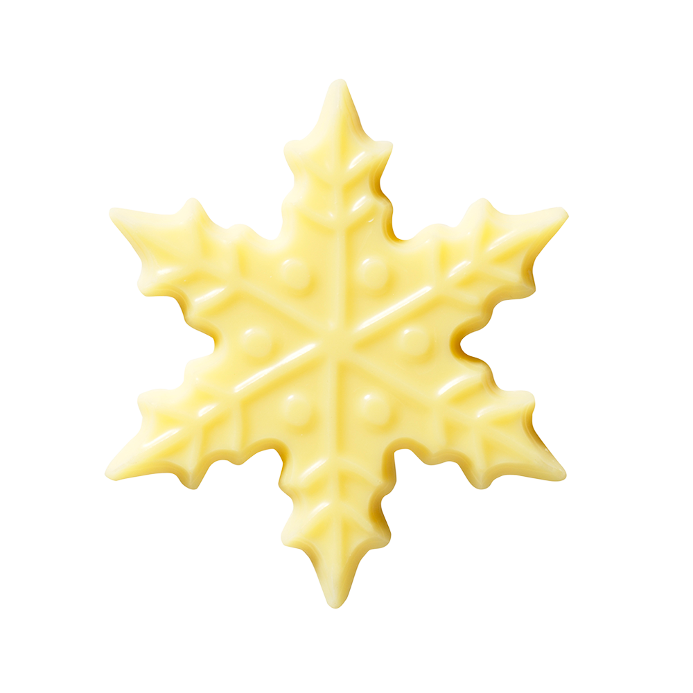 Kerstmis / Winter - White Chocolate Snowflakes 6 cm