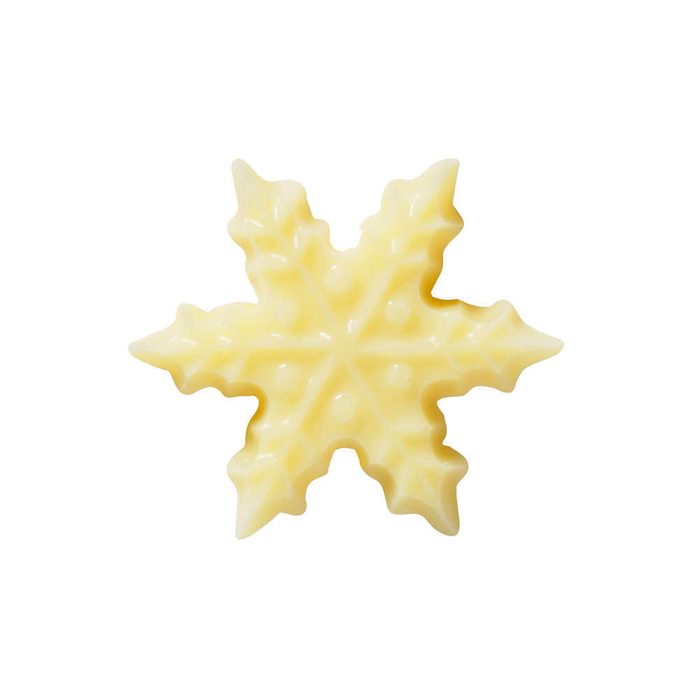 Kerstmis / Winter - White Chocolate Snowflakes 3 cm