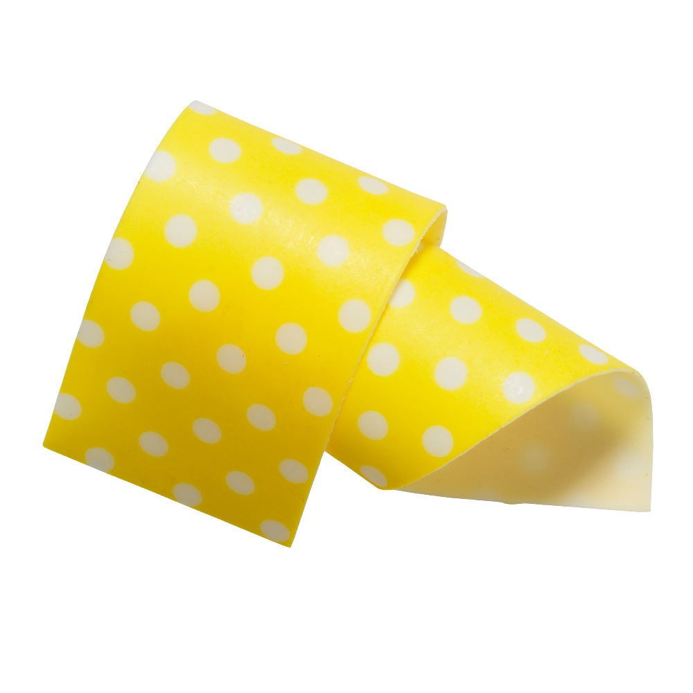 Cake Collars - almond and sugar Yellow Collars 50 mm
