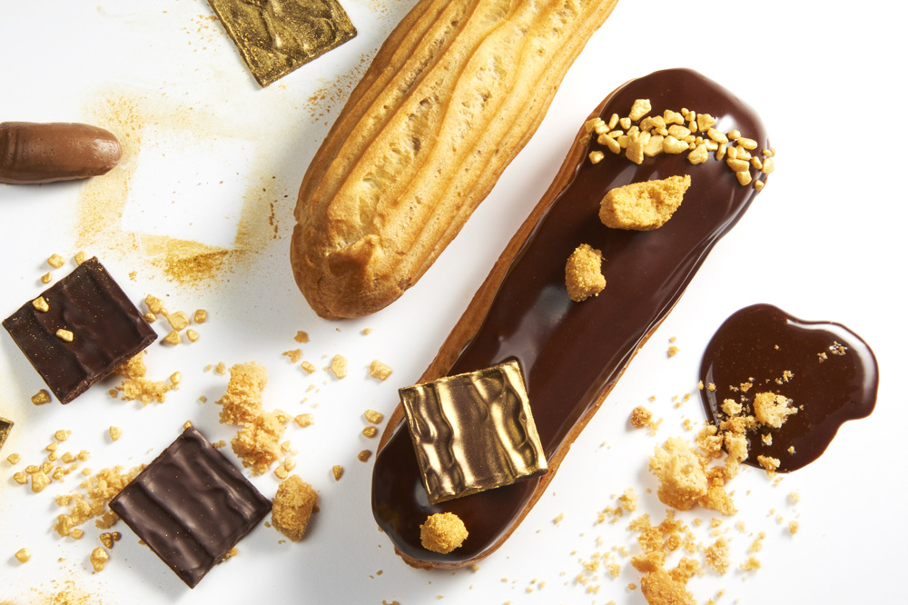 Dark chocolate éclair